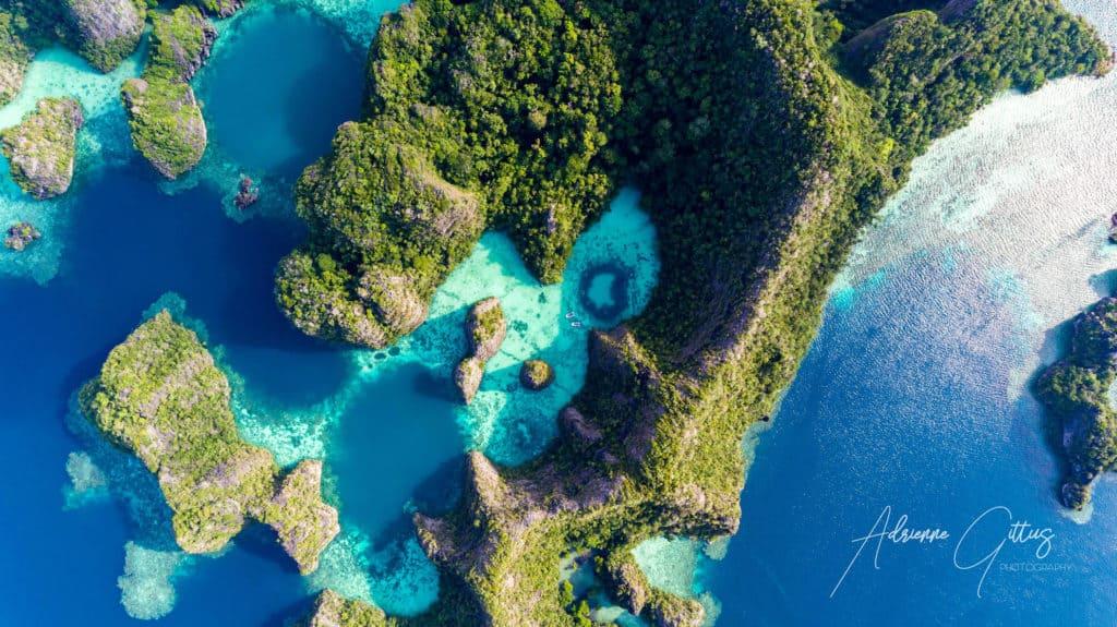 Heart shaped lagoon at Wayil