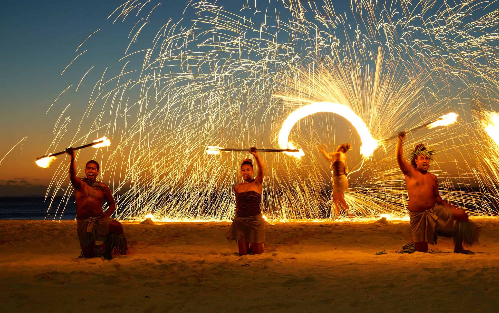 Fijian Fire Show - Photo by Romain Pontida