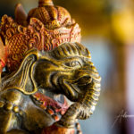 Portrait of Ganesh statue in Indonesia