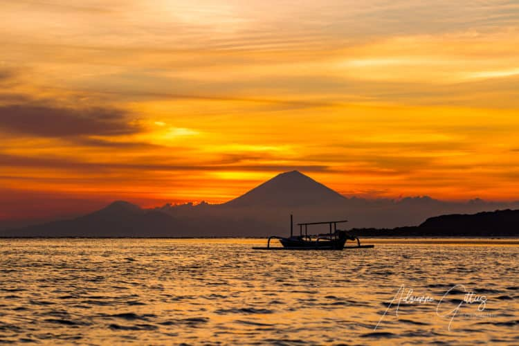 Indonesian Gili Islands sunset
