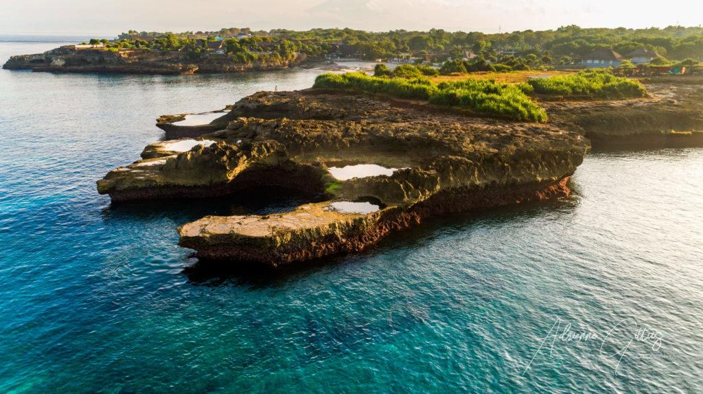 Devils tears, Nusa Lembongan, Bali, Indonesia, drone, aerial