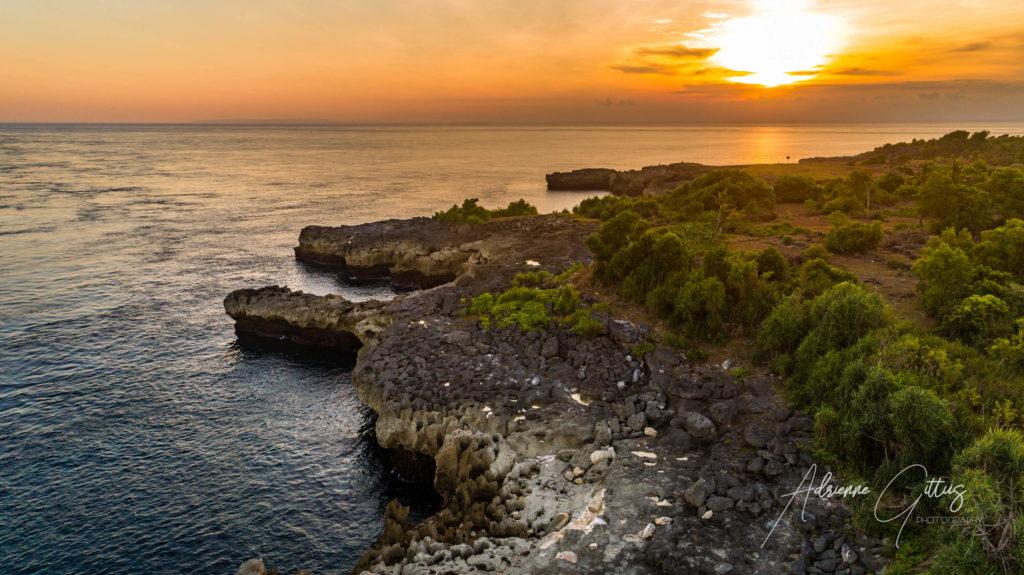 Secret place, Nusa Lembongan, Bali, Indonesia, drone, aerial