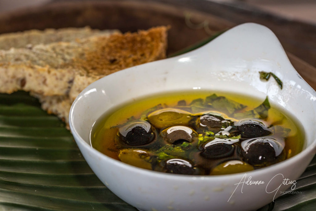 Olives and bread Pesona Restaurant