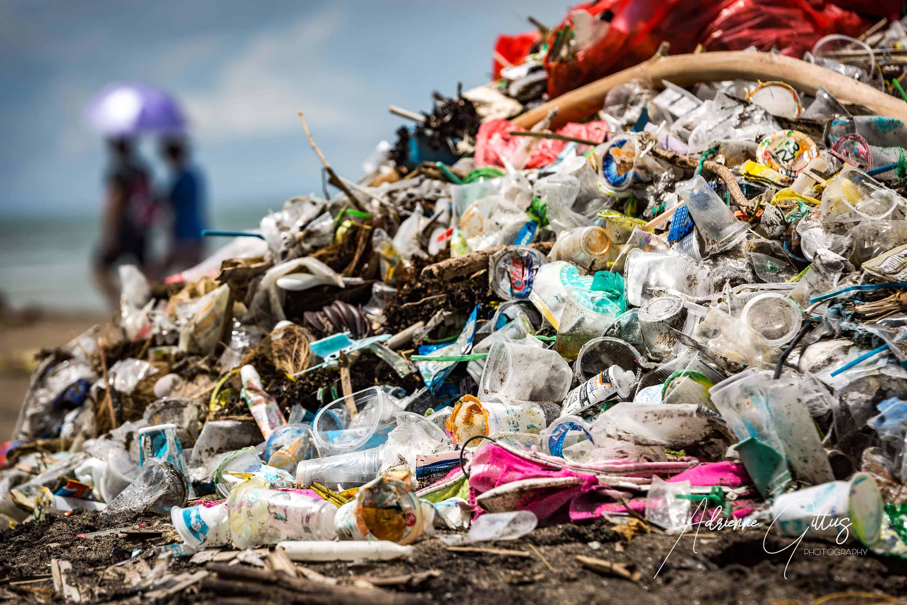Plastic rubbish piled on the beaches of Bali, paradise lost
