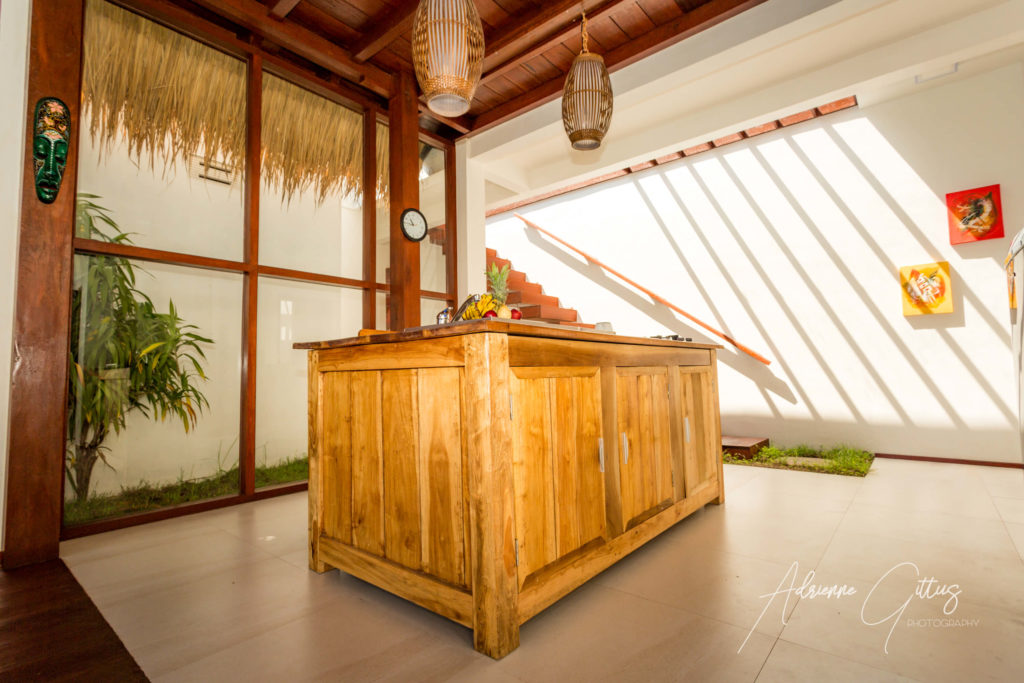 Gili Air Sanctuary, Indonesia, open plan kitchen, wood, spacious