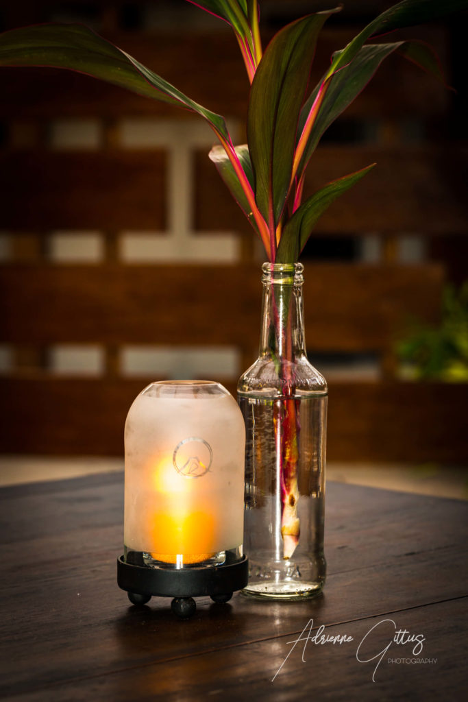 Table candle, Gili Teak