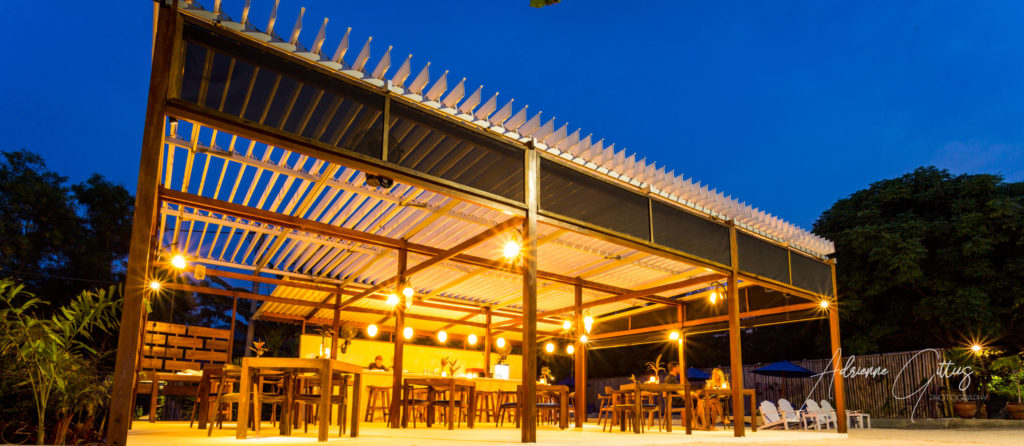 Gili Teak Restaurant at night