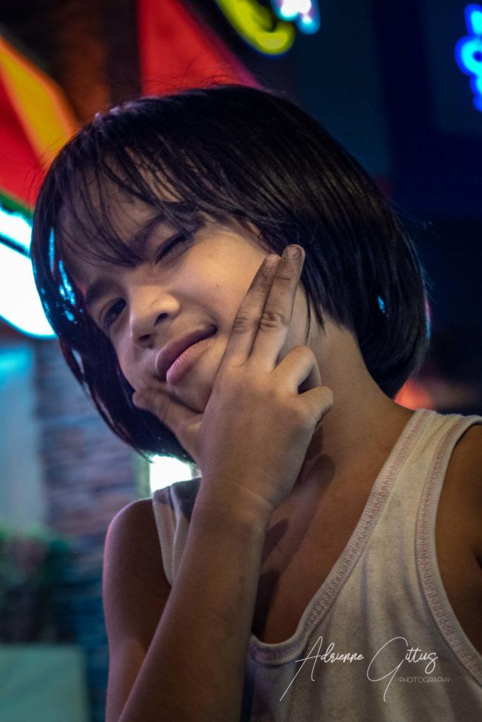 Philippina cute street kid