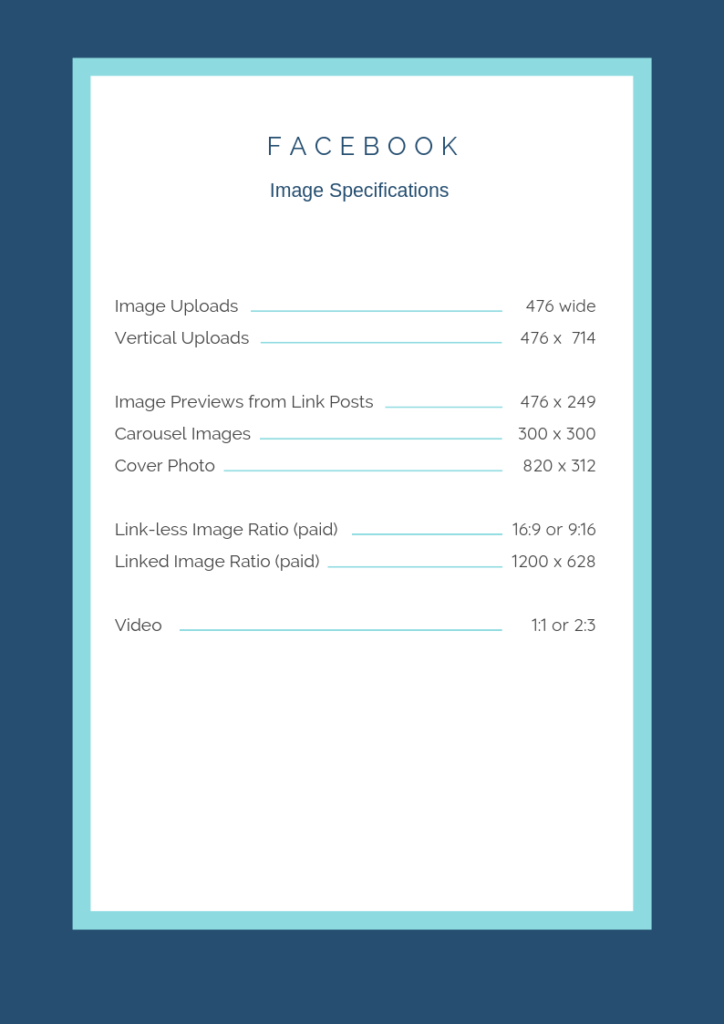 Facebook image specifications