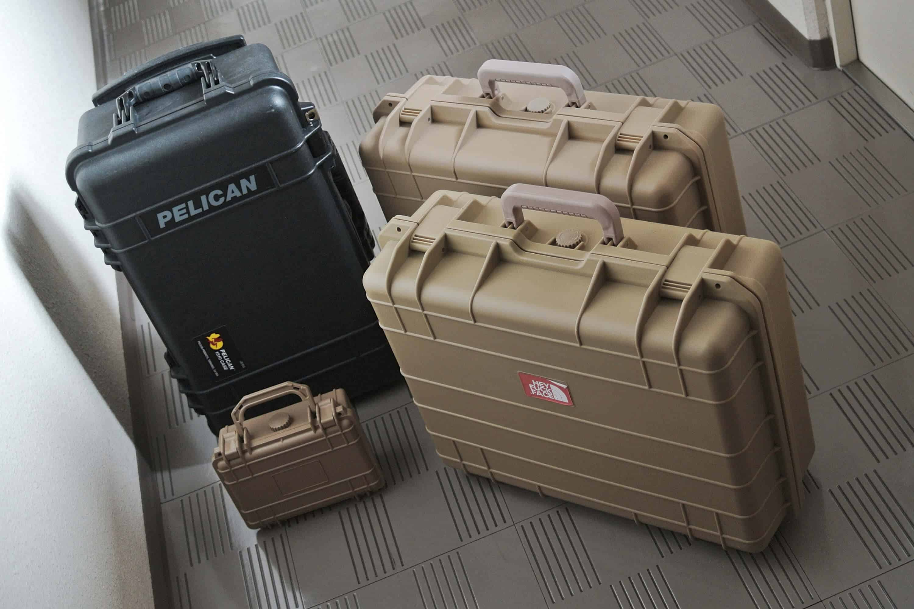 Pelican cases of different sizes